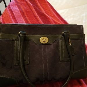 Original  coach  bag in leather